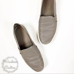 Vince. Blair Perforated Slip On Shoes